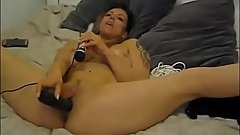 Finnish Slut playing with Doxy&amp_BBC Dildo