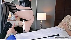 Busty fire redhead takes control in bedroom