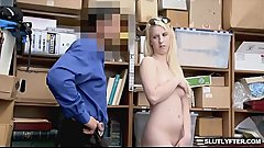 Rich girl Darcie comply with the officer
