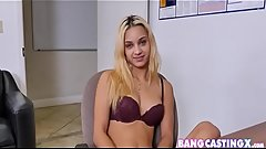 First Casting Audition For Hot Blonde Stoner