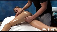 Hot 18 year old brunette hair slut gets fucked hard by her massage therapist!