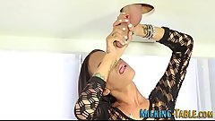 Horny masseuse sucking