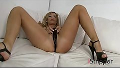 Tasha Reign masturbates at iStripper - download iStripper here: http://bit.do/istr-download