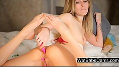 Hot Russian girl fingering ass and playing with anal beads - WetBabeCams.com