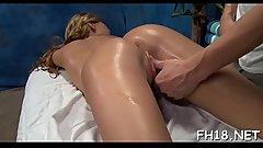 Hot 18 year old girl gets screwed hard doggy style by her massage therapist