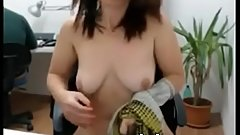 Big Tit Teen Shows Off In Library On Webcam