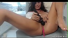 Horny Gorgeous Woman Masturbating