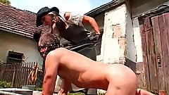 Sadomasochism fetish action with dude getting hot wax and face hole fucked