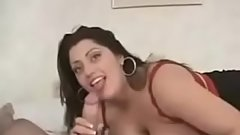 Chubby whore with huge natural boobies fucking and taking facial