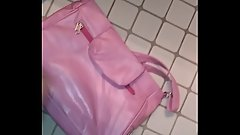 Cum on gfs leather pink purse