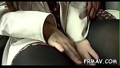 Japanese temptress delights with ultra-wet oral sex