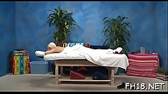 Wacko slut takes cock from her massagist