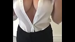 Busty downblouse