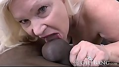 Glorious GILF welcomes a thick BBC in doggystyle style