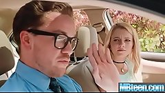 Riley Star teen girl seduce her driver instructor
